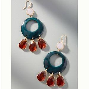 Anthropologie resin circular drop earrings